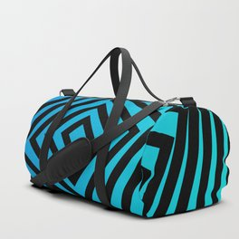 Squares twirling from the Center. Optical Illusion of Perspective bu Squares twirling Duffle Bag