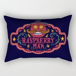 Smile man. Raspberry man Rectangular Pillow