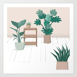 A house with plants is a home Art Print