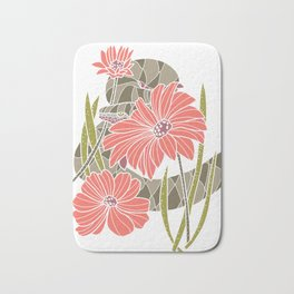 Snake and Flowers Bath Mat