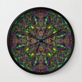 Rasta Patterns in the Jungle Canopy Wall Clock