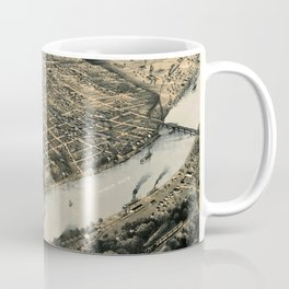 Map Of Kansas City 1869 Coffee Mug