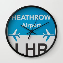 LHR Heathrow airport Wall Clock