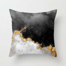 100 Starry Nebulas in Space Black and White 106 (Portrait) Throw Pillow