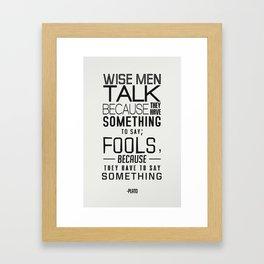 Wise Men Framed Art Print