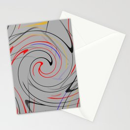 Abstract Action Stationery Cards