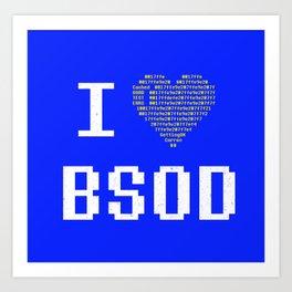I heart BSOD Art Print