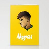 neymar Stationery Cards featuring Neymar Brazil by Dave Flanagan