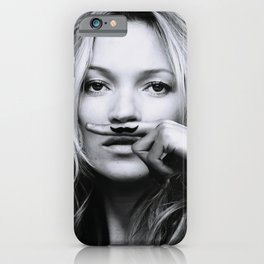 Kate Moss Print, Kate Moss Poster iPhone Case