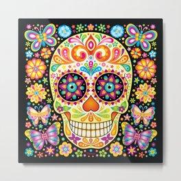 Día de Muertos Sugar Skull (Fiesta) Metal Print