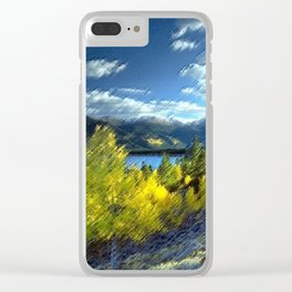 Aspen Trees at Twin Lakes, Colorado Painting by Jeanpaul Ferro Clear iPhone Case