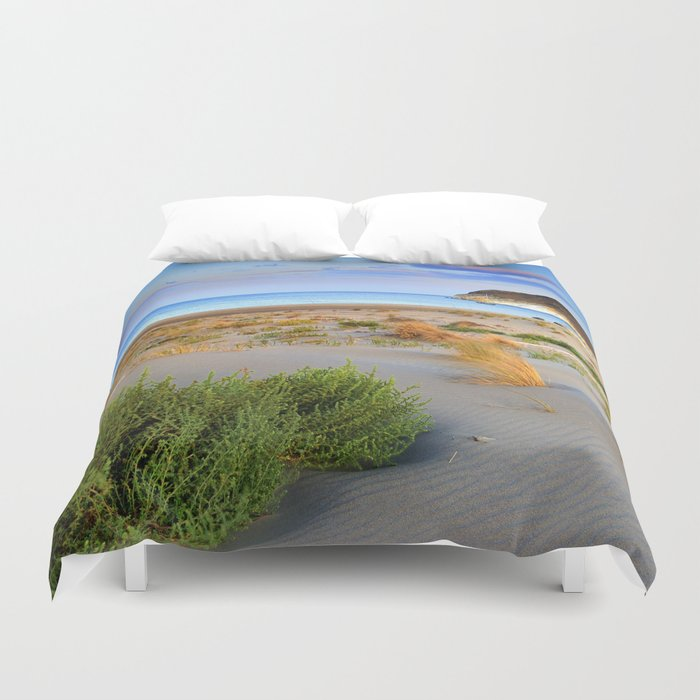 """Genoveses Beach"" Sunset at beach Duvet Cover"