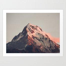 Annapurna peak Art Print