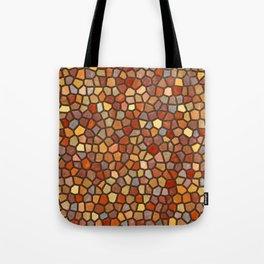 Fall Colors Mosaic Pattern - dark Tote Bag