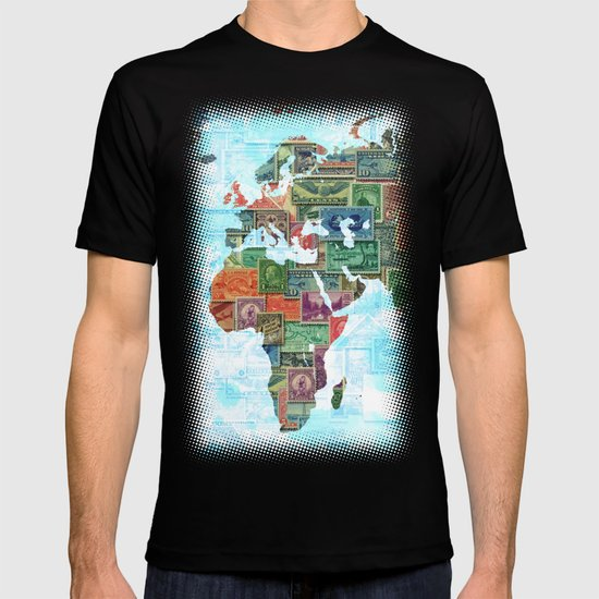 World Stamp Map T-shirt