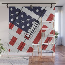 4th of July American Football Fanatic Wall Mural