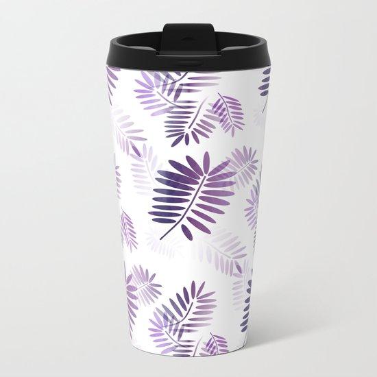 Purple Tropics Metal Travel Mug