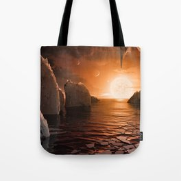 View from Exoplanet Trappist-1f Tote Bag