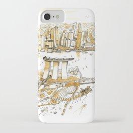 Marina Bay with Coffee iPhone Case