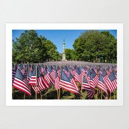 Memorial Day weekend (BostonCommon)  Art Print
