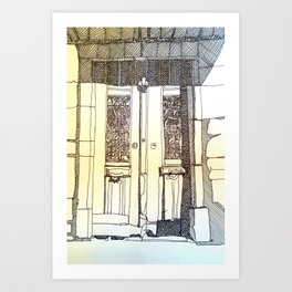 French Door Art Print