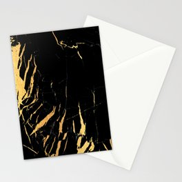 Black and gold marble #2 Stationery Cards