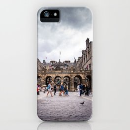 Royal Mile in Edinburgh, Scotland iPhone Case