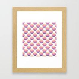 Low poly hexagons Framed Art Print