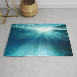 Light Rays Underwater Rug