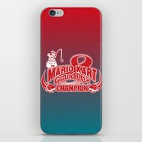 mario kart iPhone & iPod Skins featuring Mario Kart 8 Champion by Kody Christian