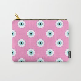 Blue Eyes on Pink Carry-All Pouch