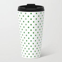 Dots (Forest Green/White) Travel Mug