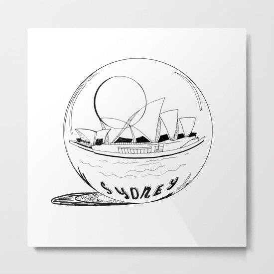 Sydney in a glass globe Metal Print