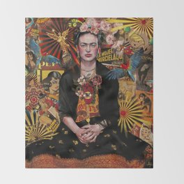 Fiesta de Frida Kahlo Throw Blanket