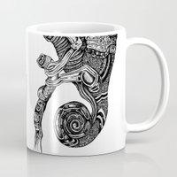 chameleon Mugs featuring Chameleon  by Ejaculesc