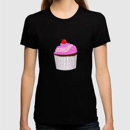 Pink Cupcake With Sprinkles T-shirt
