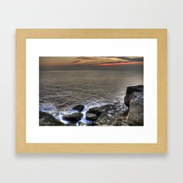 Froth and Rock Framed Art Print