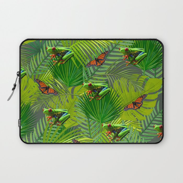 Frogs and Monarchs Laptop Sleeve