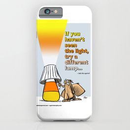 seeing a different light iPhone Case