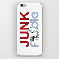junk food iPhone & iPod Skins featuring I HEART Junk Food by HemantS