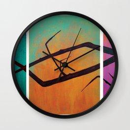 tree painting Wall Clock