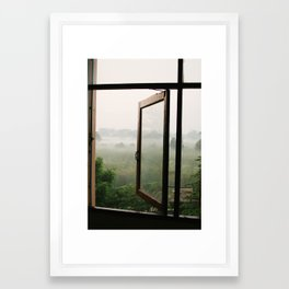 God opens a window Framed Art Print