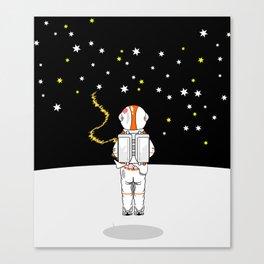 Astronaut Caught Short Canvas Print