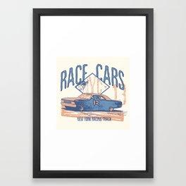 Race cars Framed Art Print