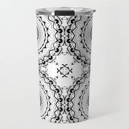 Black-and-white kaleidoscope . Travel Mug