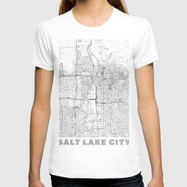 Salt Lake City Map Line T-shirt