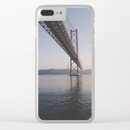 25 de Abril bridge. Lisbon, Portugal. Clear iPhone Case