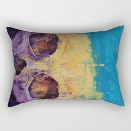 Grunge Skull Rectangular Pillow