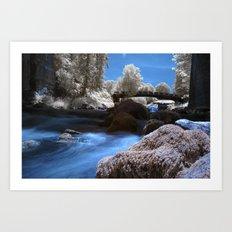 Ir River Art Print