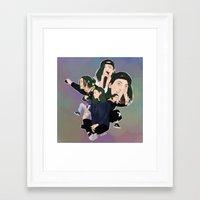 jenna kutcher Framed Art Prints featuring Jenna by timetoewill